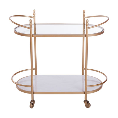 Glass and Marble Drinks Trolley