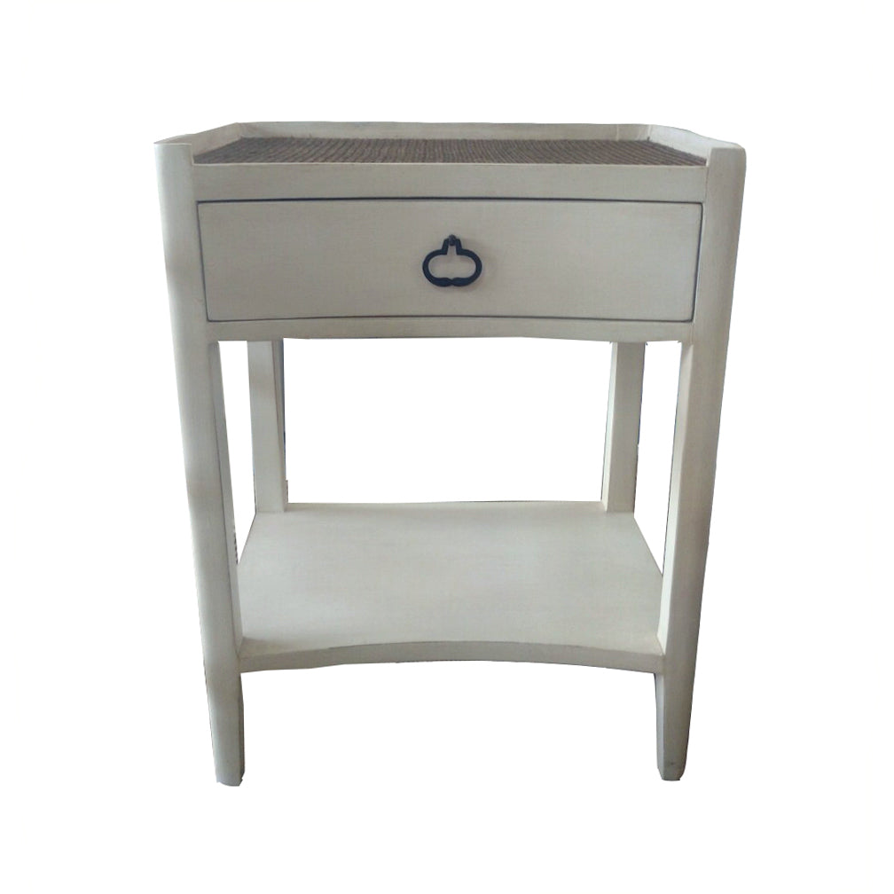 Norton 1 Drawer Bedside Ant/white