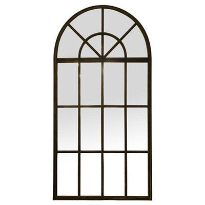 Arch Mirror with Panes Tall