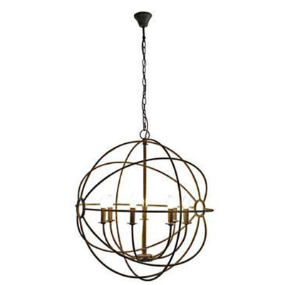Spherical Iron Chandelier