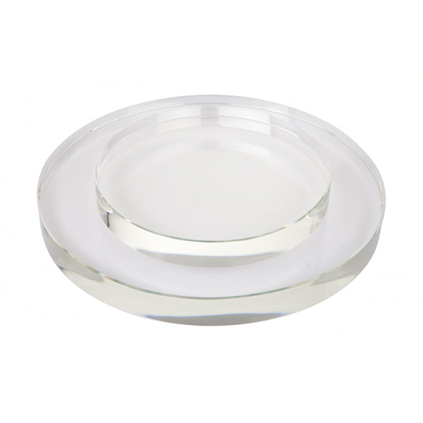 Crystal Round Shadow Plate