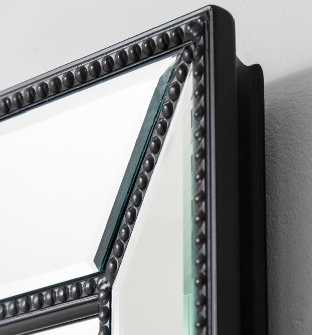 Beaded Black Wall Mirror
