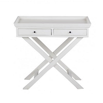 Brigade Bedside Table - white