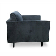 Brooklyn Lounge Chair Velvet Graphite