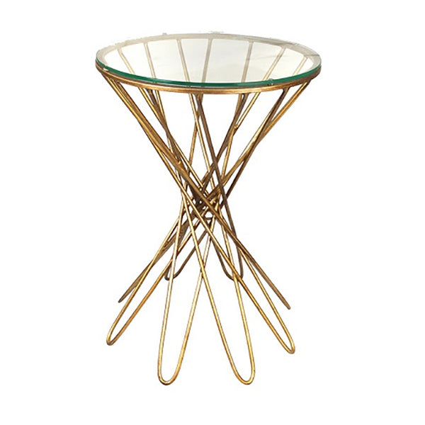Gold Cocktail Side Table