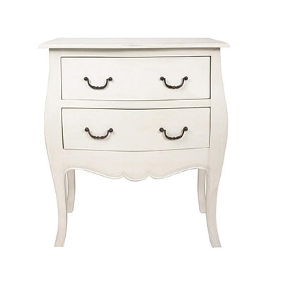 Commode 2 Drawer White