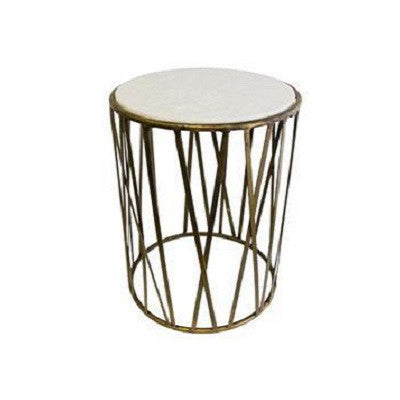Criss Cross Marble Side Table