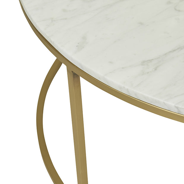 Elle Round Marble Coffee Table Gold