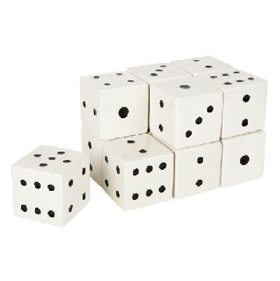 Ceramic White Dice Set