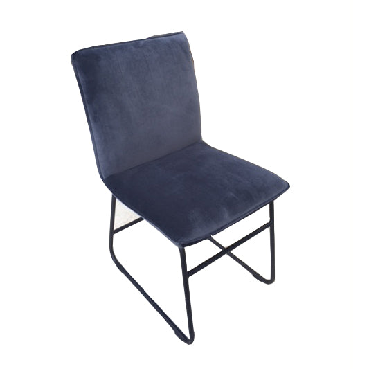 Munich Dining Chair Graphite Velvet