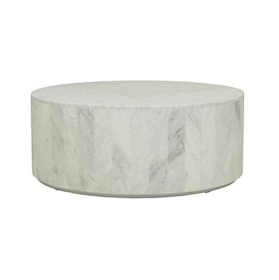 Elle Round Block Coffee Table Black