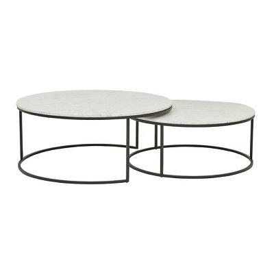 Elle Round Marble Nest of Tables