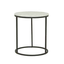 Elle Round Marble Side Table