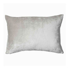 Metallic Silver Velvet Cushion Rect