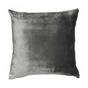 Metallic Pewter Velvet Cushion