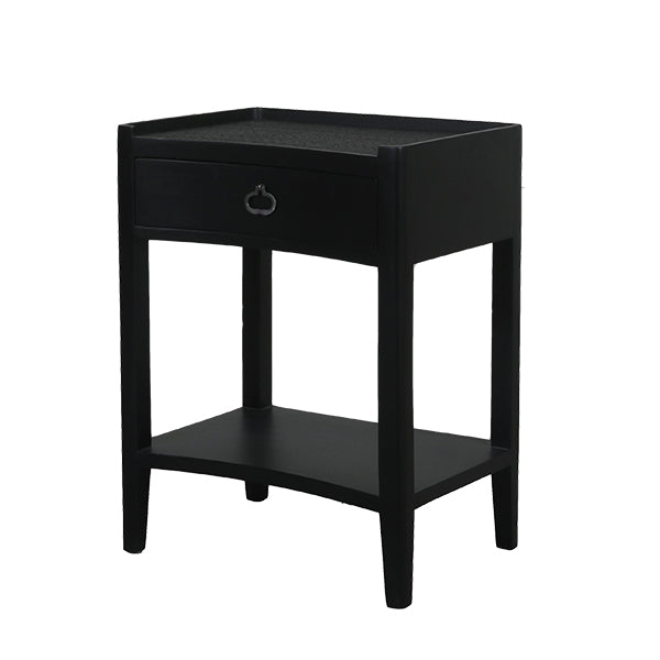 Norton 1 Drawer Bedside Black