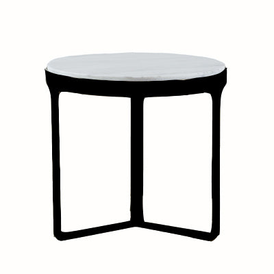 Palazza Black Side Table