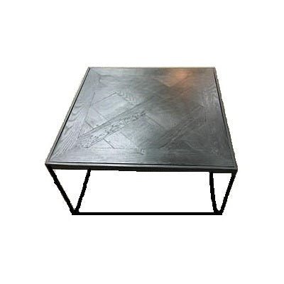 Parquetry Side Table - Black