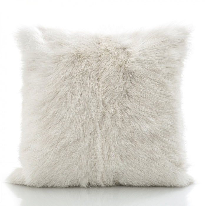 Goat Fur Cushion White