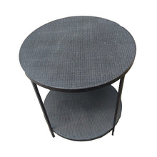 Rattan Side Table Black