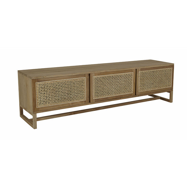 180cm Willow Woven Natural Entertainment Unit