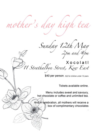 ADULTS TICKET - Mother's Day High Tea