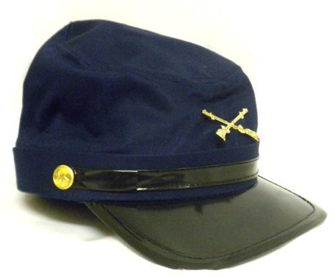 Civil War Blue & Gray Kepi Hats Kids History Costume Roleplay Set