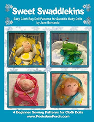 Sweet Swaddlekins Book of 4 Easy Cloth Rag Doll Swaddle Baby Doll Patterns