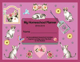 Rosy Cat Pink Homeschool Planner