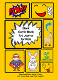 Blank Comic Book Kids Art Journal Kit with Portable Art Set. Blank Comic Book , Mystery Stickers and Backpack