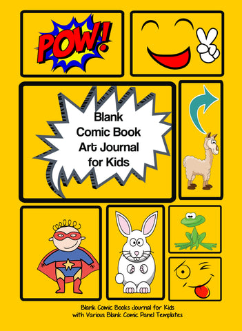 Blank Comic Book Deluxe Kids Art Journal Kit with 2 Drawing Books, Portable Art Set, Blank Comic Book Sketchbook, and Mystery Stickers
