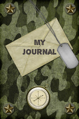 Military Camo Blank A5 Journal for Men