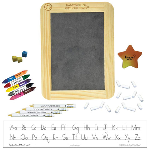 Handwriting without Tears Chalkboard Slate Print Starter Set (Starter Kit, Manuscript)