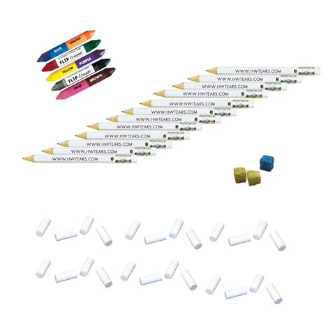 Handwriting without Tears Refill Kit for HWT Slate Chalkboard and Paper Practice (Refill, Manuscript & Cursive)