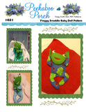 "Froggy in a Blanket 8"" Easy Cloth Swaddle Baby Animal Rag Doll Pattern - Beginner PDF Sewing Pattern"