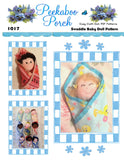 Swaddle Baby with 9 Faces & 9 Hair Variations! Easy Cloth Rag Doll Pattern - Beginner PDF Sewing Patterns by Peekaboo Porch