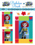 "Raggedy Ann - A - Belle  22"" Easy Cloth Rag Doll Pattern - Beginner PDF Sewing Pattern"