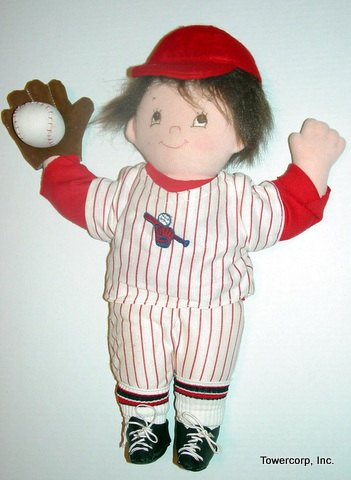 "Little Homer 18"" Baseball Player Pancake Doll Easy Cloth Rag Doll Pattern - Beginner PDF Sewing Patterns by Peekaboo Porch"