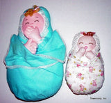 "Bundle of Joy 9"" & 15"" Easy Cloth Swaddle Baby Rag Doll Pattern - Beginner PDF Sewing Pattern"