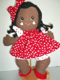 "Puddin' Pie 15"" Easy Cloth Pancake Rag Doll Pattern - Beginner PDF Sewing Pattern"