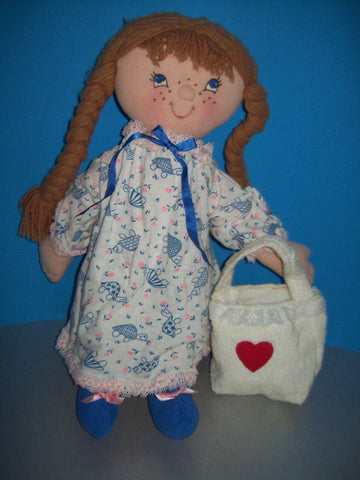 "Kitty from the Country 18"" Easy Cloth Rag Doll Pattern - Beginner PDF Sewing Pattern"