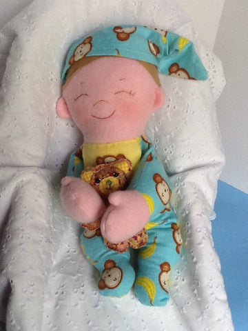 "Baby Brother 15"" Easy Cloth Rag Doll Pattern - Beginner PDF Sewing Pattern"