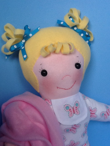 "Baby Sister 15"" Easy Cloth Rag Doll Pattern- Beginner PDF Sewing Pattern"