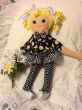 "Daisy 18"" Easy Cloth Rag Doll Pattern - Beginner PDF Sewing Patterns"