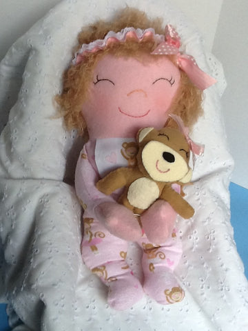 "Snuggles 15"" Easy Cloth Rag Doll Pattern - Beginner PDF Sewing Pattern"