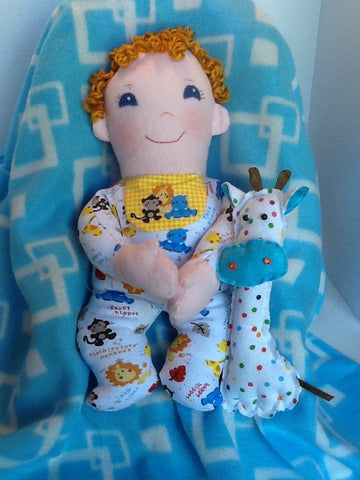 "Baby Boo 15"" Easy Cloth Rag Doll Pattern - Beginner PDF Sewing Pattern"
