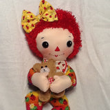 "Baby Raggedy Ann - A - Belle 15"" Easy Cloth Rag Doll Pattern - Beginner PDF Sewing Pattern"