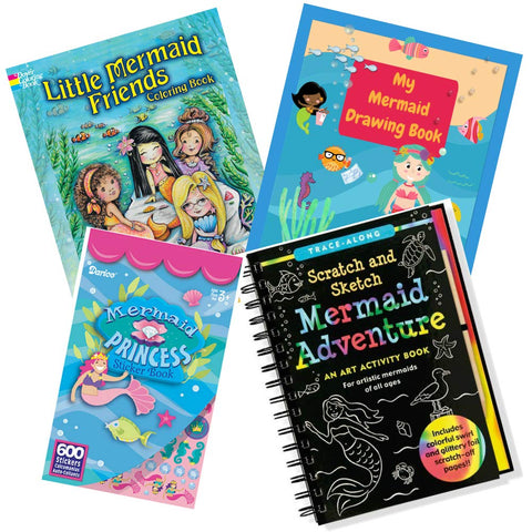 Creative Kids Toys Mermaid Adventure Scratch and Sketch Book Deluxe Art Journal Set with Mermaid Scratch Art Book, Mermaid Drawing Book Mermaid Stickers and Mermaid Coloring Book