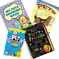 Creative Kids Toys Furry Friends Scratch and Sketch Book