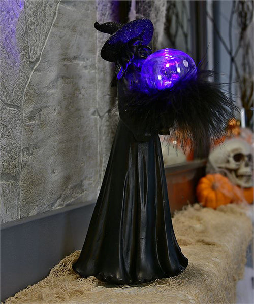 Witch LED Resin Figure